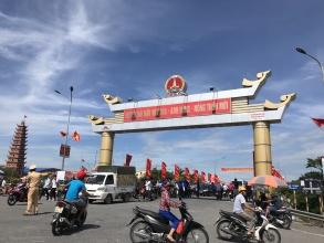 Hải Hậu: Hàng chục nghìn người đổ về trung tâm huyện Hải Hậu, tỉnh Nam Định mừng đại lễ 2-9